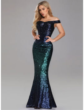 Ever Pretty Us Green Long Party Dresses Sequins Mermaid Evening Prom Gown 08999 by Ever Pretty