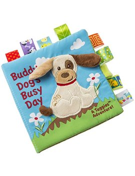 Taggies Touch & Feel Soft Cloth Book With Crinkle Paper And Squeaker, Buddy Dog by Taggies