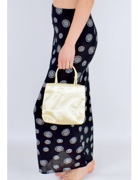 Mini Yellow Satin 90s Handbag by Sella D'or