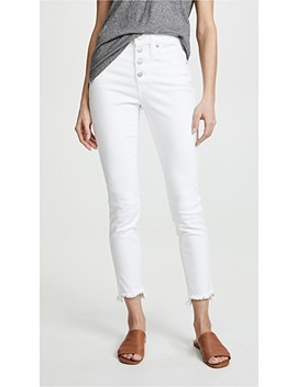 High Rise Skinny Jeans In Pure White: Step Hem Edition by Madewell