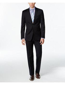 Navy Solid Slim X Fit Suit by Calvin Klein