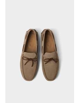 Embossed Driving Moccasins  View All Shoes Man by Zara