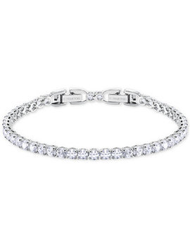 Silver Tone Crystal Tennis Bracelet by Swarovski
