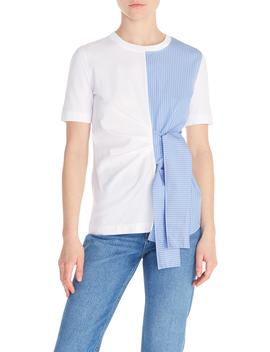Norman Mix Media Side Tie Top by Sandro