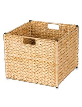 Household Essentials® Banana Leaf Wicker Collapsible Storage Bin by Bed Bath And Beyond