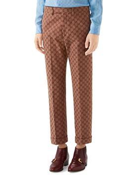 Gg Jacquard Straight Leg Pants by Gucci