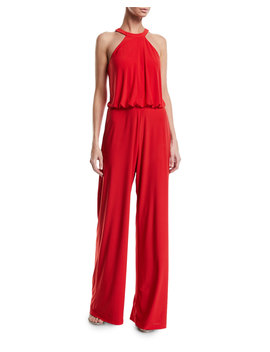 Anselm Halter Neck Column Gown W/ Keyhole Front by Jay X Jaygodfrey