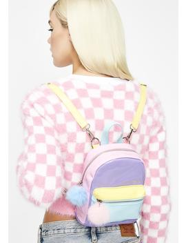 Melted Sherbert Color Block Backpack by Dolls Kill