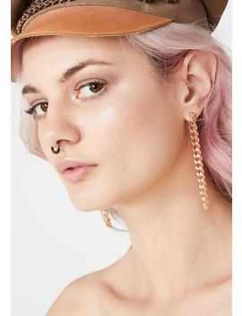 Richer Than You Chain Earrings by Dolls Kill