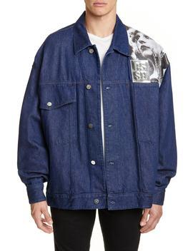 Punkette Oversize Denim Jacket by Raf Simons