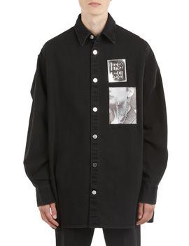 Oversize Patch Denim Shirt by Raf Simons