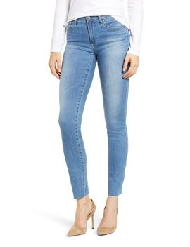 The Prima Raw Hem Cigarette Jeans by Ag
