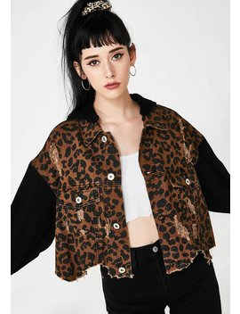 Kitty Chic Bandit Denim Jacket by Dolls Kill