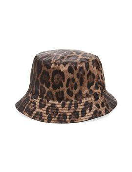 Leopard Spot Reversible Bucket Hat by Steve Madden