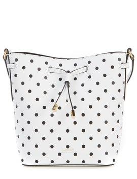 Debby Polka Dot Mini Drawstring Bucket Bag by Lauren Ralph Lauren