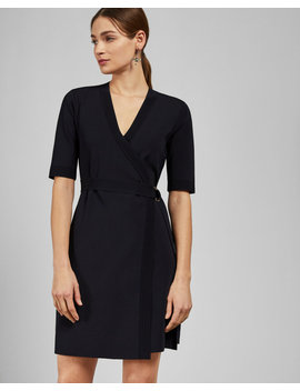Knitted Wrap Dress by Ted Baker