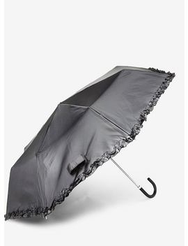 Black Frill Umbrella by Dorothy Perkins