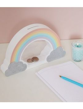 Rainbow Cloud Money Box by New Look