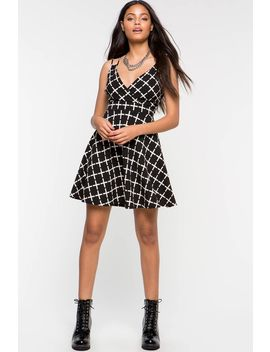 Antoinette Surplus Plaid Dress by A'gaci