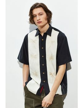 Bamboo Cay Pacific Panel Short Sleeve Button Down Shirt by Bamboo Cay