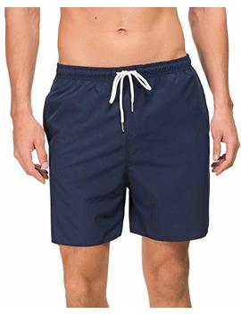 Janmid Mens Slim Fit Quick Dry Short Swim Trunks With Mesh Lining by Janmid