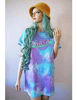 Nasa Tie Dye T Shirt by Etsy