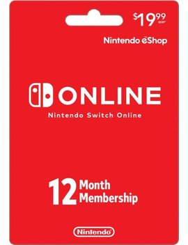 Switch Online 12 Month Membership Card by Nintendo