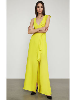Open Back Ruffle Gown by Bcbgmaxazria