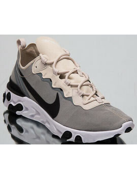 Nike React Element 55 Men's New Light Orewood Brown Lifestyle Shoes Bq6166 100 by Nike