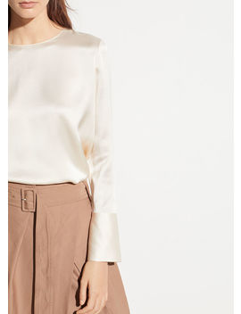 Crew Neck Silk Blouse by Vince