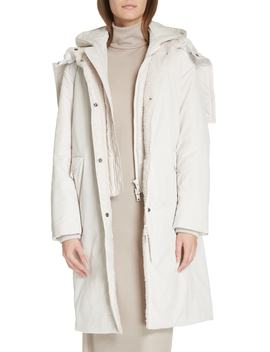 Faux Fur Trim Puffer Coat by Vince