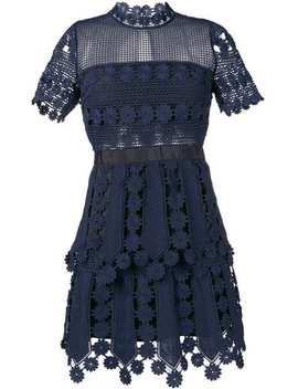 Crochet Detail Mini Dress by Self Portrait