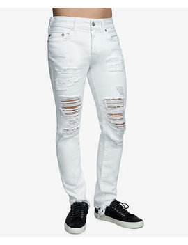 Men's Rocco Ripped Skinny Fit Stretch Jeans by True Religion