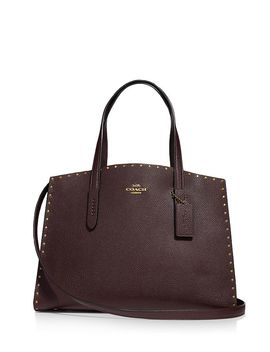 Charlie Large Leather Carryall by Coach