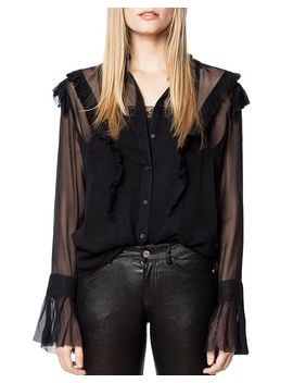 Tweet Ruffled Shirt by Zadig & Voltaire