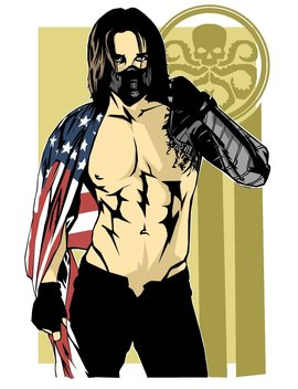 Winter Soldier Pin Up by Etsy