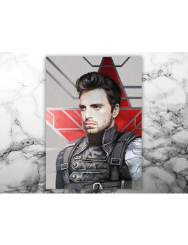 The Winter Soldier Art Print   Bucky Barnes by Etsy