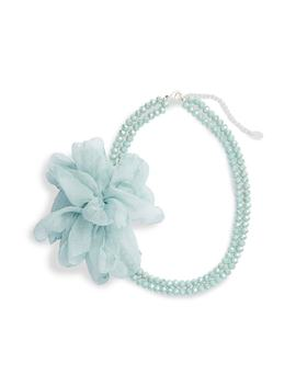 Abigail Beaded Chiffon Necklace by Stella + Ruby