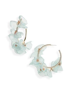 Chiffon Petal Hoop Earrings by Stella + Ruby