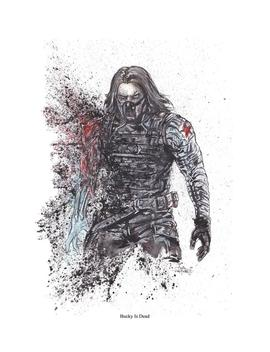 """Winter Soldier """"Bucky Is Dead"""" 11x14 Signed And Numbered Art Print by Etsy"""