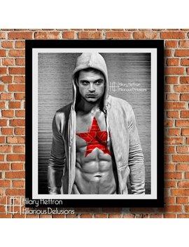 "Winter Soldier ""Shirtless Superheroes"" Digital Painting Print by Etsy"