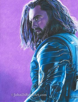Drawing Print Of The Winter Soldier (Sebastian Stan) From Avengers: Infinity War by Etsy