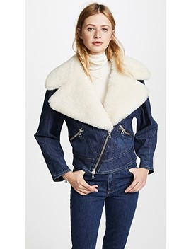 Moto Jacket With Shearling Collar by Adam Lippes