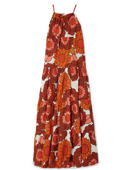 Dorothy Tiered Floral Print Cotton Voile Maxi Dress by Dodo Bar Or