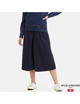 Women Ines Linen Cotton Blend Culottes by Uniqlo