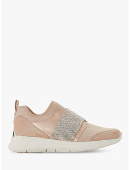 Dune Excitable Slip On Trainers, Nude by Dune