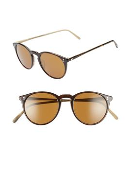 O'malley 48mm Round Sunglasses by Oliver Peoples