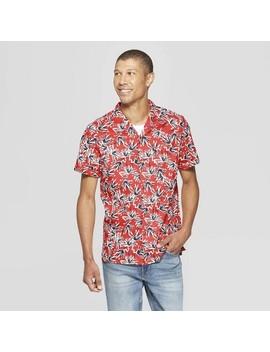Men's Printed Short Sleeve Button Down Shirt   Goodfellow & Co™ by Goodfellow & Co