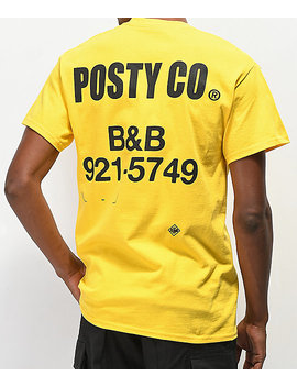 Post Malone Label Yellow T Shirt by Post Malone