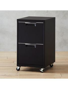 Tps Black 2 Drawer Filing Cabinet by Crate&Barrel